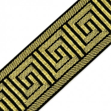 "2 3/8"" (60mm) GREEK KEY MET. JACQUARD"