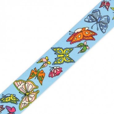 25MM BUTTERFLY PRINT ELASTIC