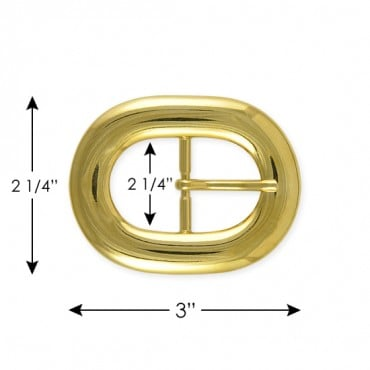 OVAL CLASSIC STYLE METAL BUCKLE