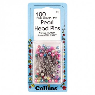Assorted Pearl Head Pins