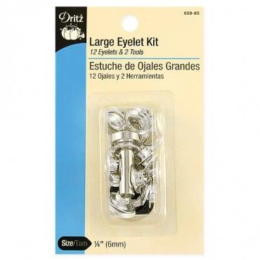 Large Silver Eyelet Kit