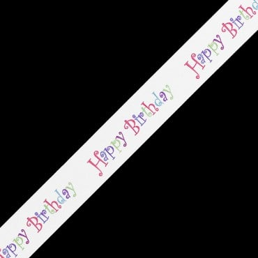 "7/8"" HAPPY BIRTHDAY PRINT RIBBON"