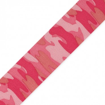 """1 3/8"""" (35mm) Camouflage Printed Ribbon"""