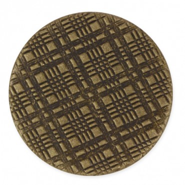 METAL BASKET-WEAVE BUTTON WITH SHANK