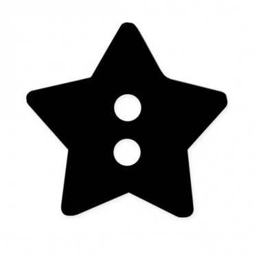 15mm Star Button 2-Holes