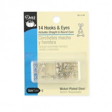 Dritz Hook & Eye Set - 14 pieces