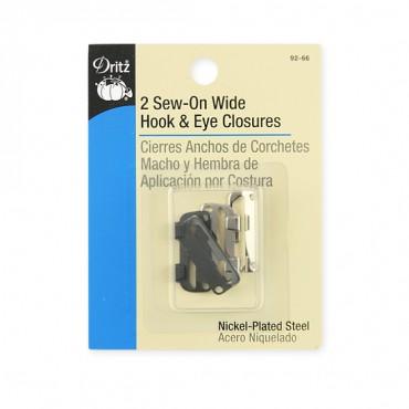 2 PIECE SEW-ON WIDE HOOK & EYE PACKAGE