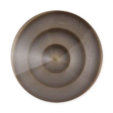 CONCENTRIC CIRCLE DESIGN FASHION BUTTON WITH TUNNEL SHANK