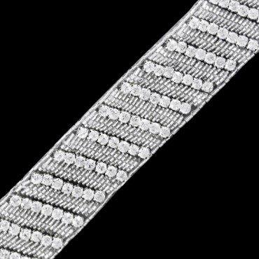"1 1/2"" (38mm) Rhinestone Beaded Trim"