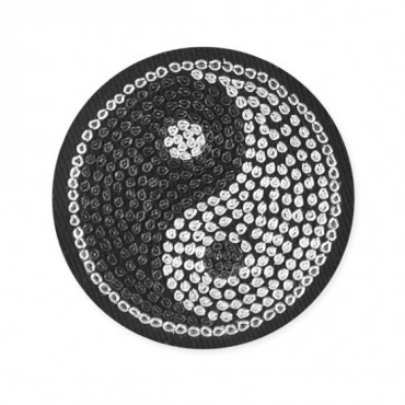 Sew On Yin Yang Bullion Applique