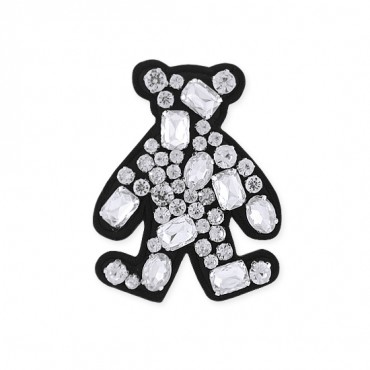 "2 3/4"" X 3 1/4"" Jewel Bear Applique"