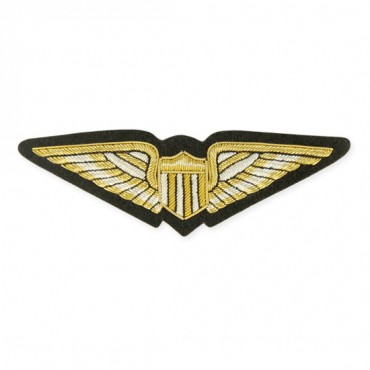 "5"" Wings Applique - Gold/Silver Multi"