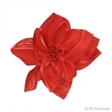 "4 1/2"" Swirl Flower Pin & Clip"
