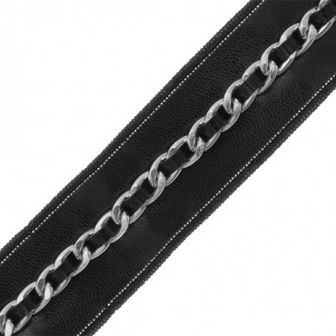 "1 1/4"" FAUX LEATHER WITH CHAIN"