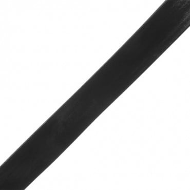 16MM FAUX LEATHER PATENT TAPE-16mm-BLACK