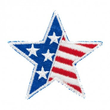 Iron On USA Flag Star Patch