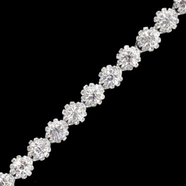 "1/2"" (13mm) Rhinestone Bud Trim"