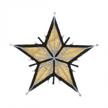 "4"" HEAT SEAL SPLENDOR STAR APPLIQUE"