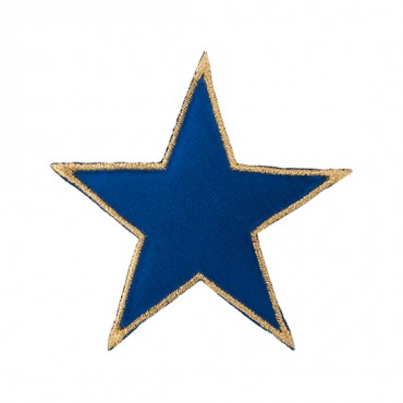 "3"" METALLIC EDGE STAR APPLIQUE"