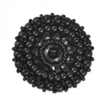 EXTRA LARGE BEADED BUTTON