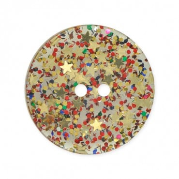 2-HOLE ROUND GLITTER BUTTON