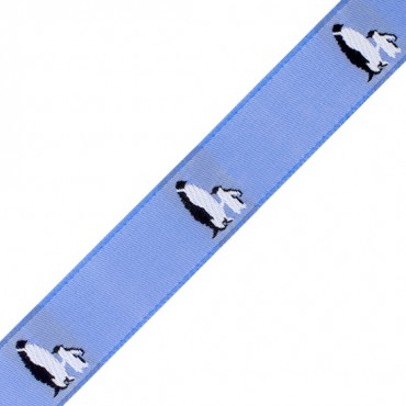 "7/8"" PENGUINS PRINTED JACQUARD"