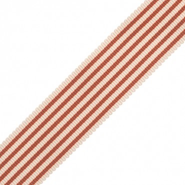 "7/8"" STRIPED GROSGRAIN-RUST"