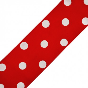 76MM POLKA DOTS GROSGRAIN