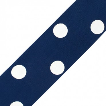 "2""(50mm) Polka Dots Tafetta"