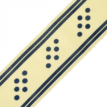 50MM STRIPED AND DOTTED CHROMSPUN GROSGRAIN