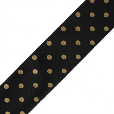 "2 1/8"" (53mm Metallic) Polka Dot Chromspun"