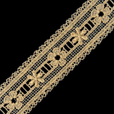 "1 3/8"" (35mm) Fine Metallic Lace"