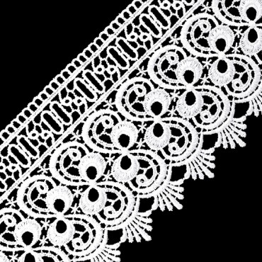 """4"""" SCALLOPED AND BOW VENISE LACE"""