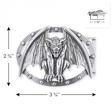 """2 3/4"""" X 3 3/4"""" Gargoyle Metal Buckle"""
