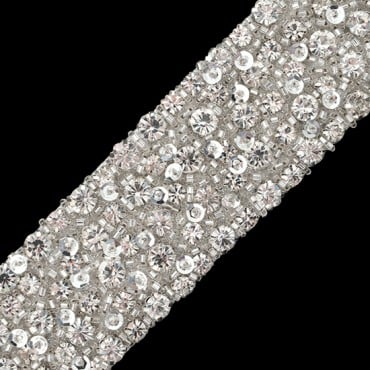 "2""(50mm) Rhinestone Beaded Trim"