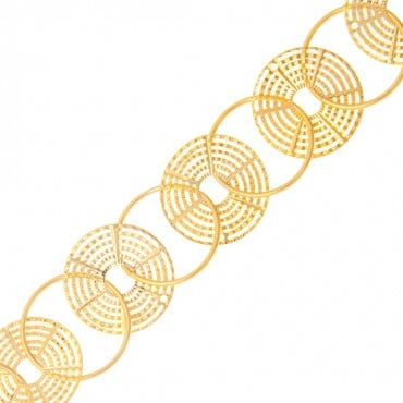 "1 1/8"" METALLIC CIRCLE CHAIN"