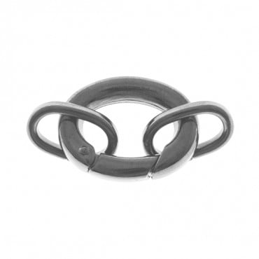 OVAL CLASP WITH JUMP RINGS