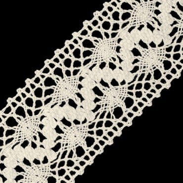 "1 3/4"" ZIZ-ZAG COTTON CLUNY LACE"
