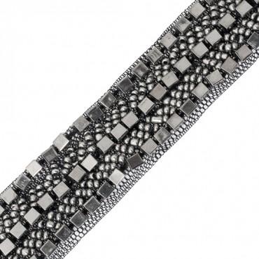 "3/4""(19mm) Metallic Beaded Trim"