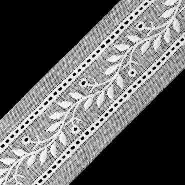 "7/8"" (23mm) Leaf And Vine Eyelet Lace"