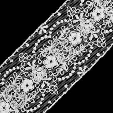 "2"" (51mm) Embroidered Floral Lace"