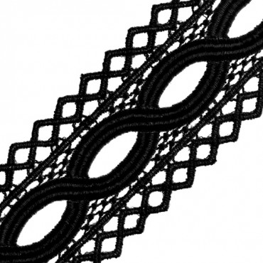 "1 3/4"" DIAMOND FENCE EDGE CLUNY LACE"