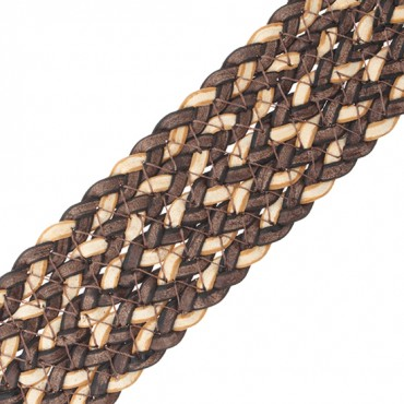 """1 1/2"""" TWO-COLOR BRAIDED VINYL"""