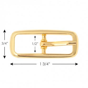 "3/4"" Small Rectangle Buckle"