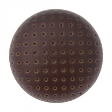 PERFORATED FAUX LEATHER BUTTON WITH SHANK