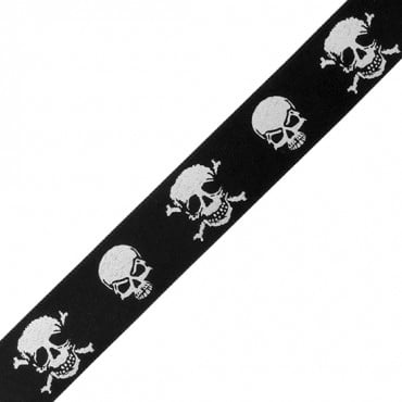 "3/4"" SKULL SATIN RIBBON"