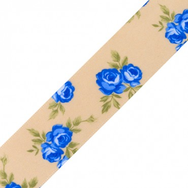 "1"" FLORAL SATIN RIBBON"