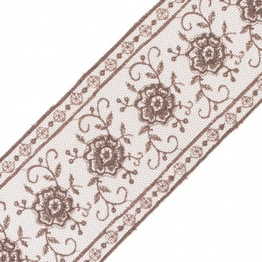 """2"""" EMBROIDERED FLORAL LACE"""