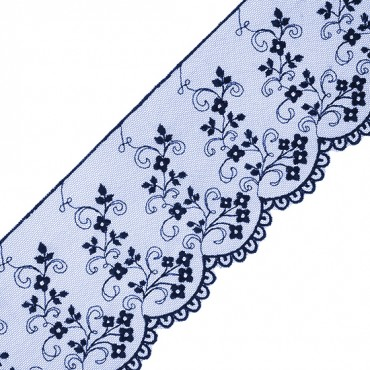"3 1/2"" SCALLOPED FLORAL VINE LACE"