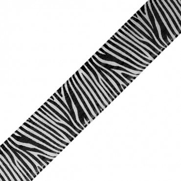 "1"" ZEBRA PRINT METALLIC RIBBON"